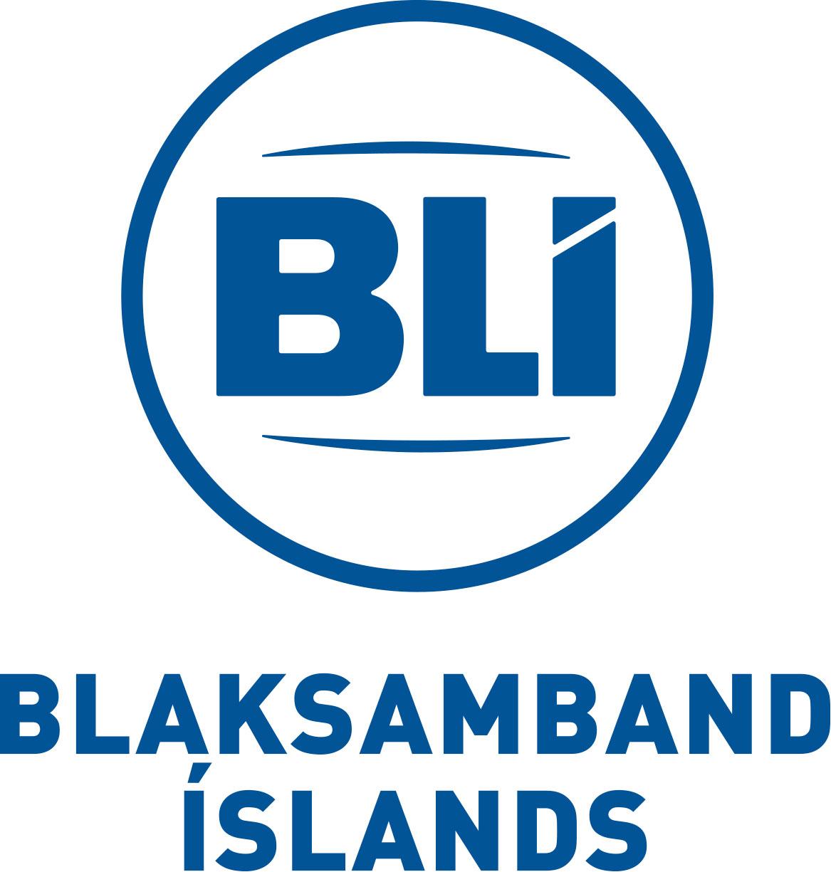 Blaksamband Íslands, merki með texta